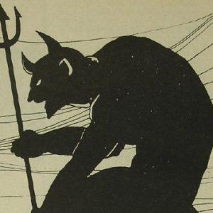 Dibujo representativo de un demonio