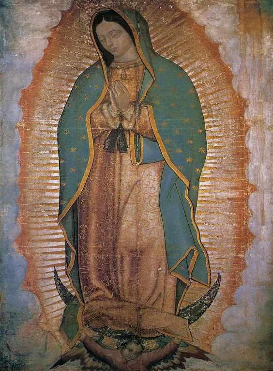 Imagen de la Virgen de Guadalupe que esta en el santuario