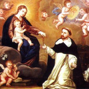 Historia María Santísima entrega Santo Rosario a santo Domingo de Guzmán