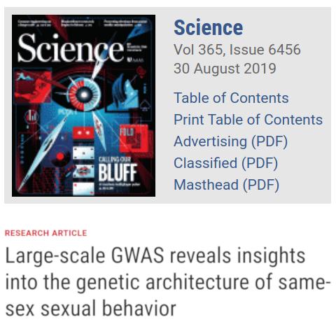 Revista Science - No existe gen homosexual