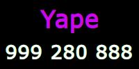 Yape donar Soles al 999 280 888